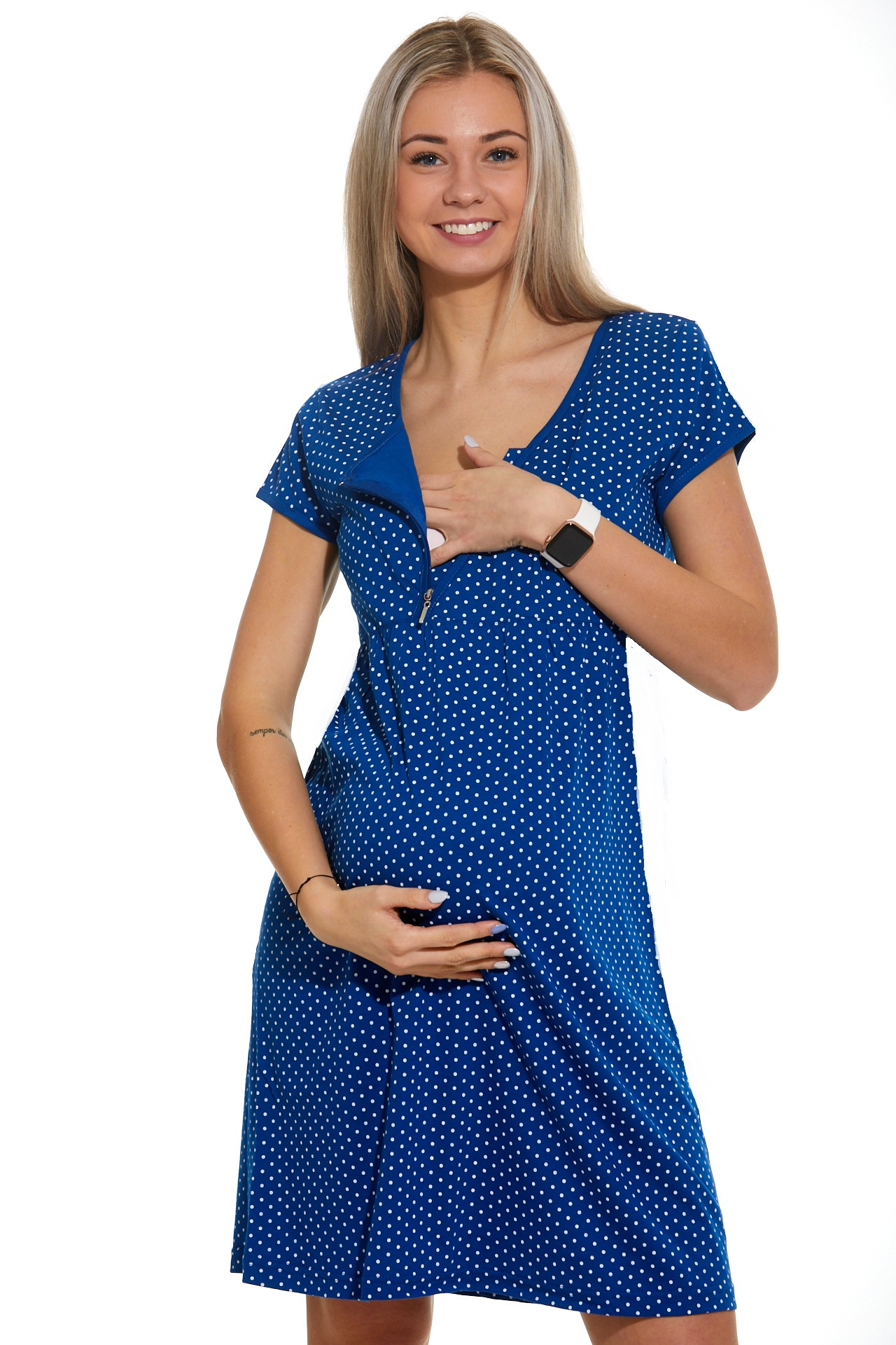 Noční košilka do porodnice kojící  1C2328