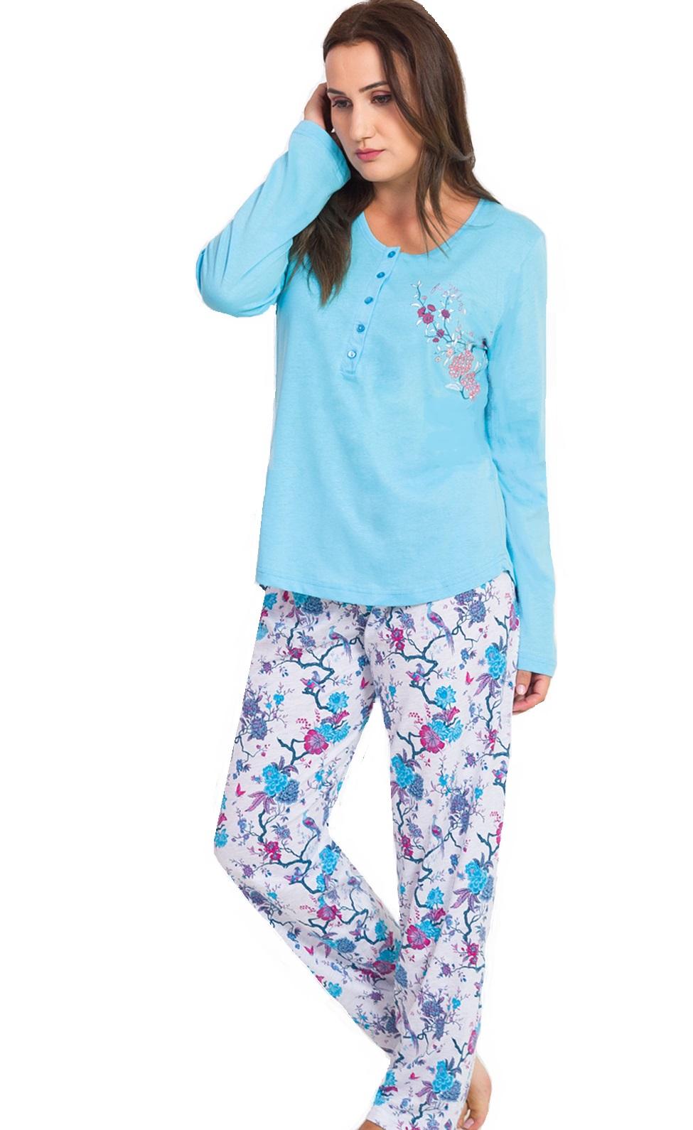 Pyžamo dámské na kojení Flower 1B1092