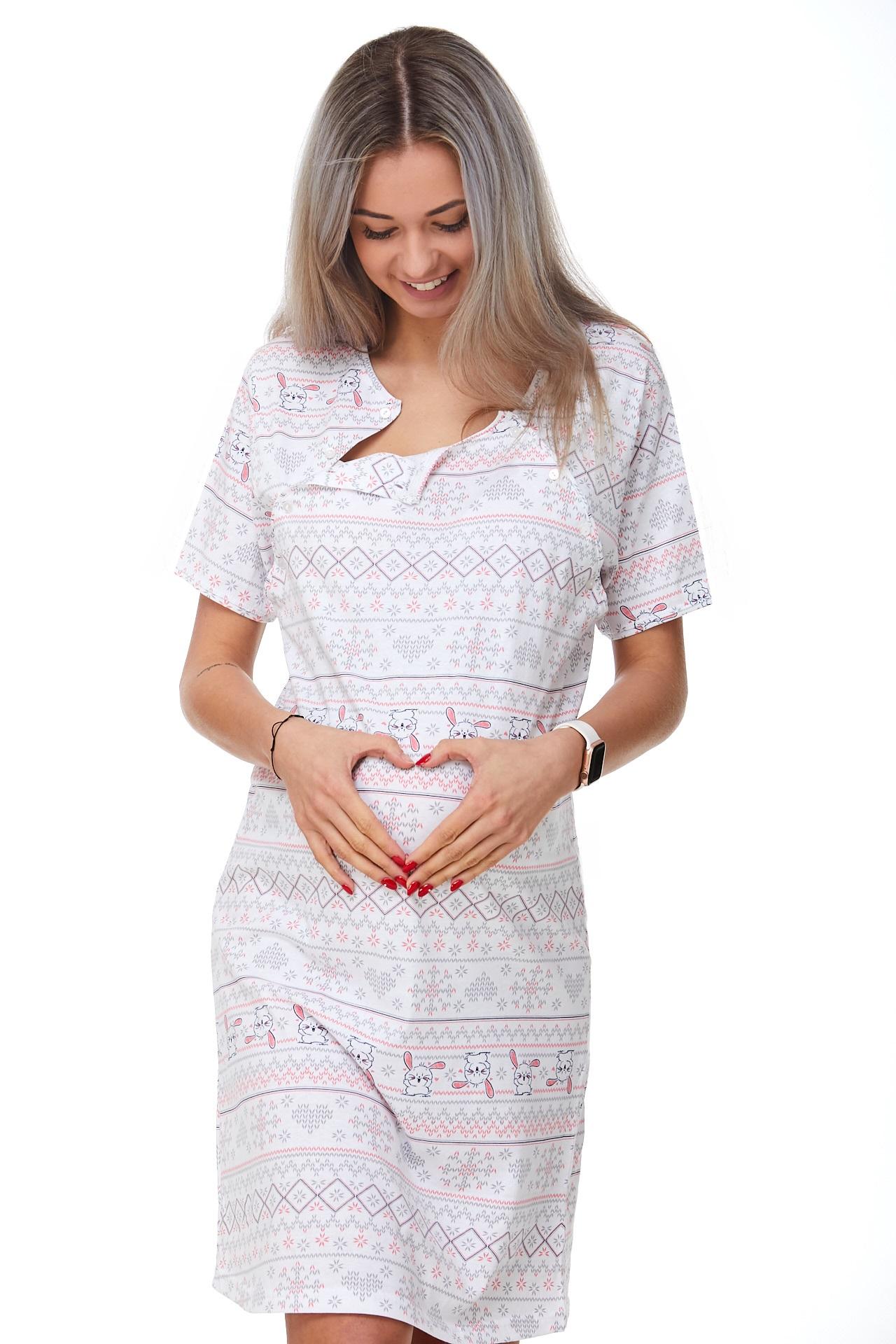Košilka kojící do porodnice Zajíčci  1C2361