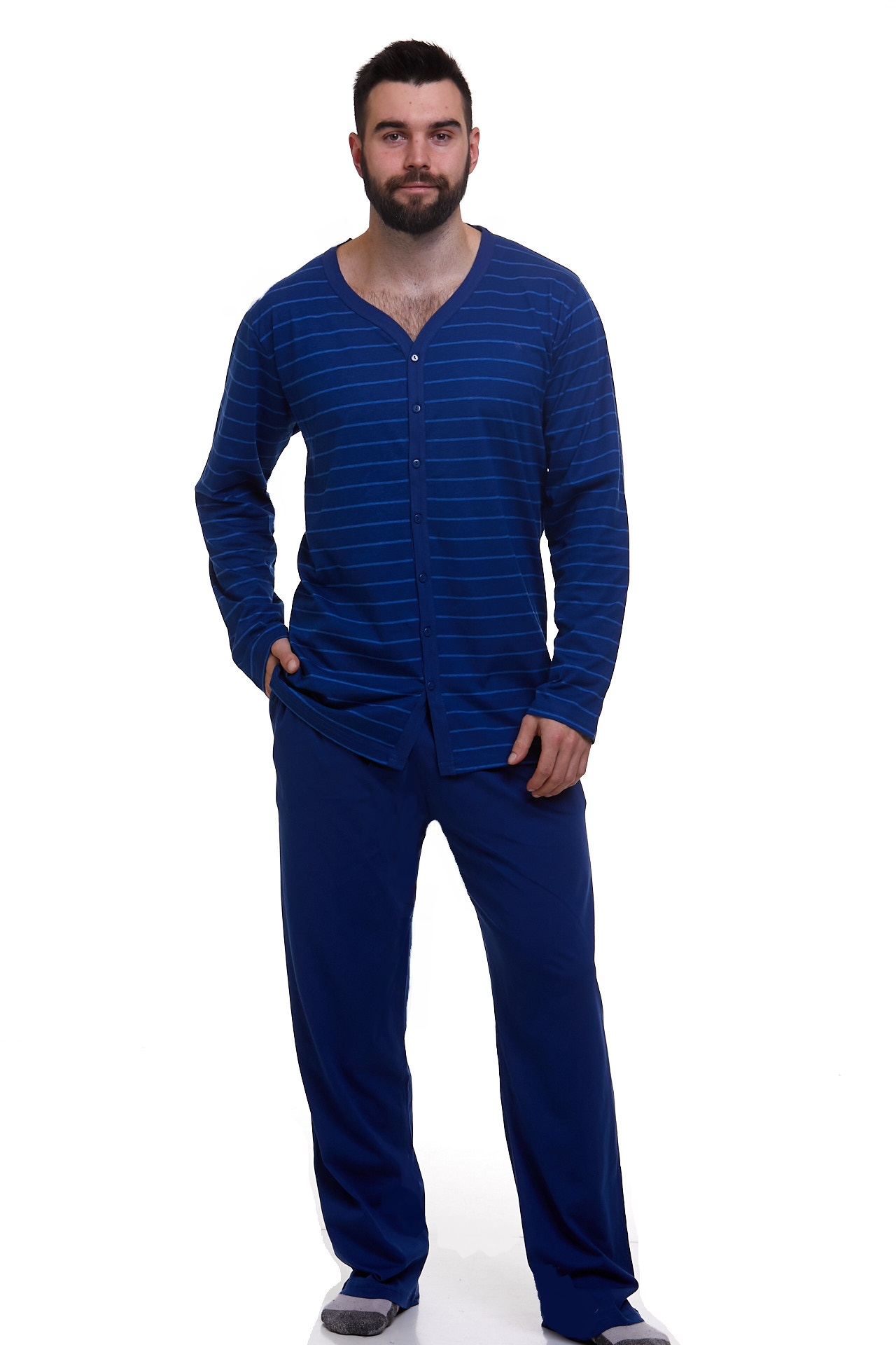 Pyžamo pro muže celo propínací 1P1103