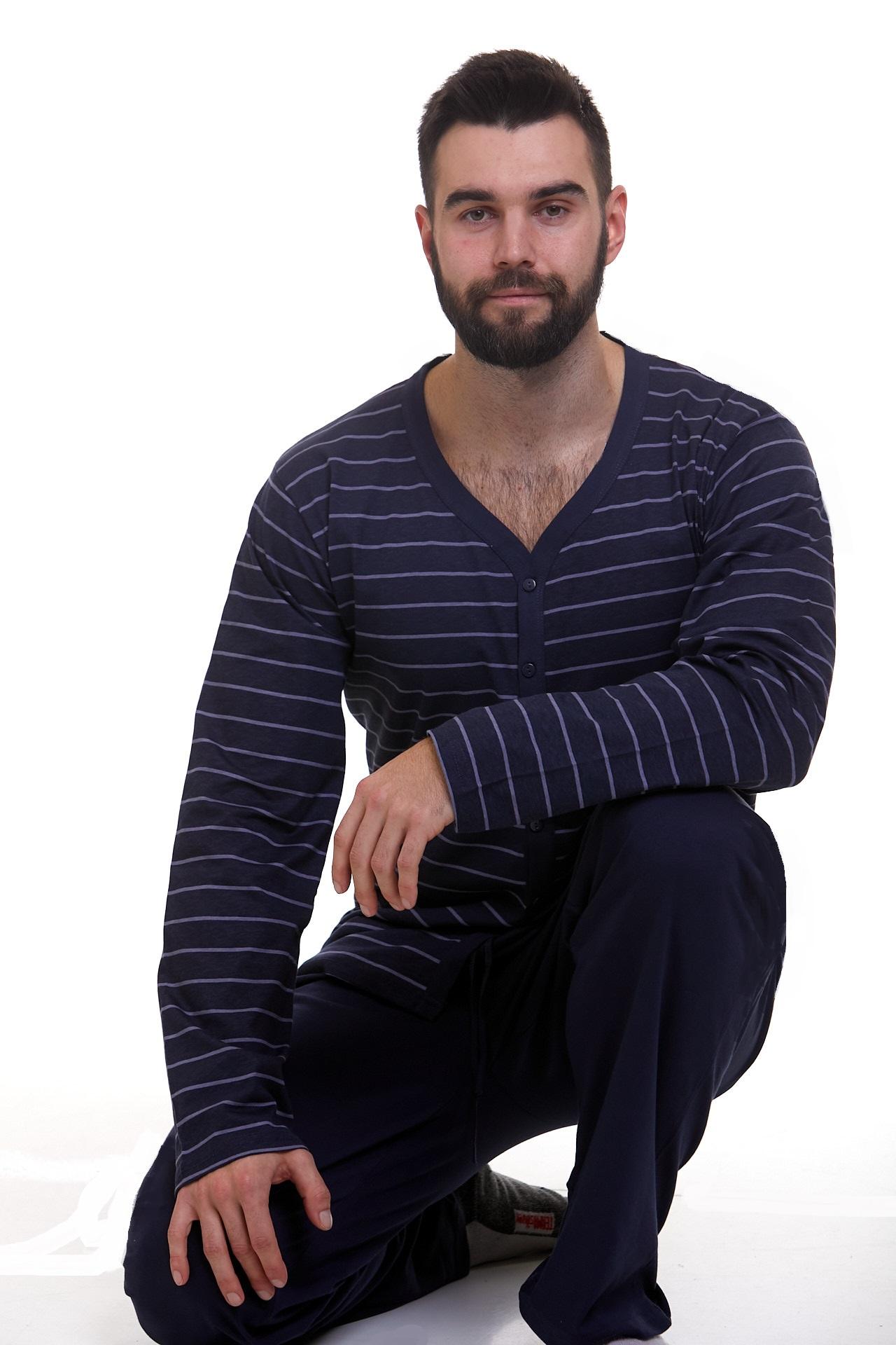Pyžamo pro muže celo propínací 1P1102