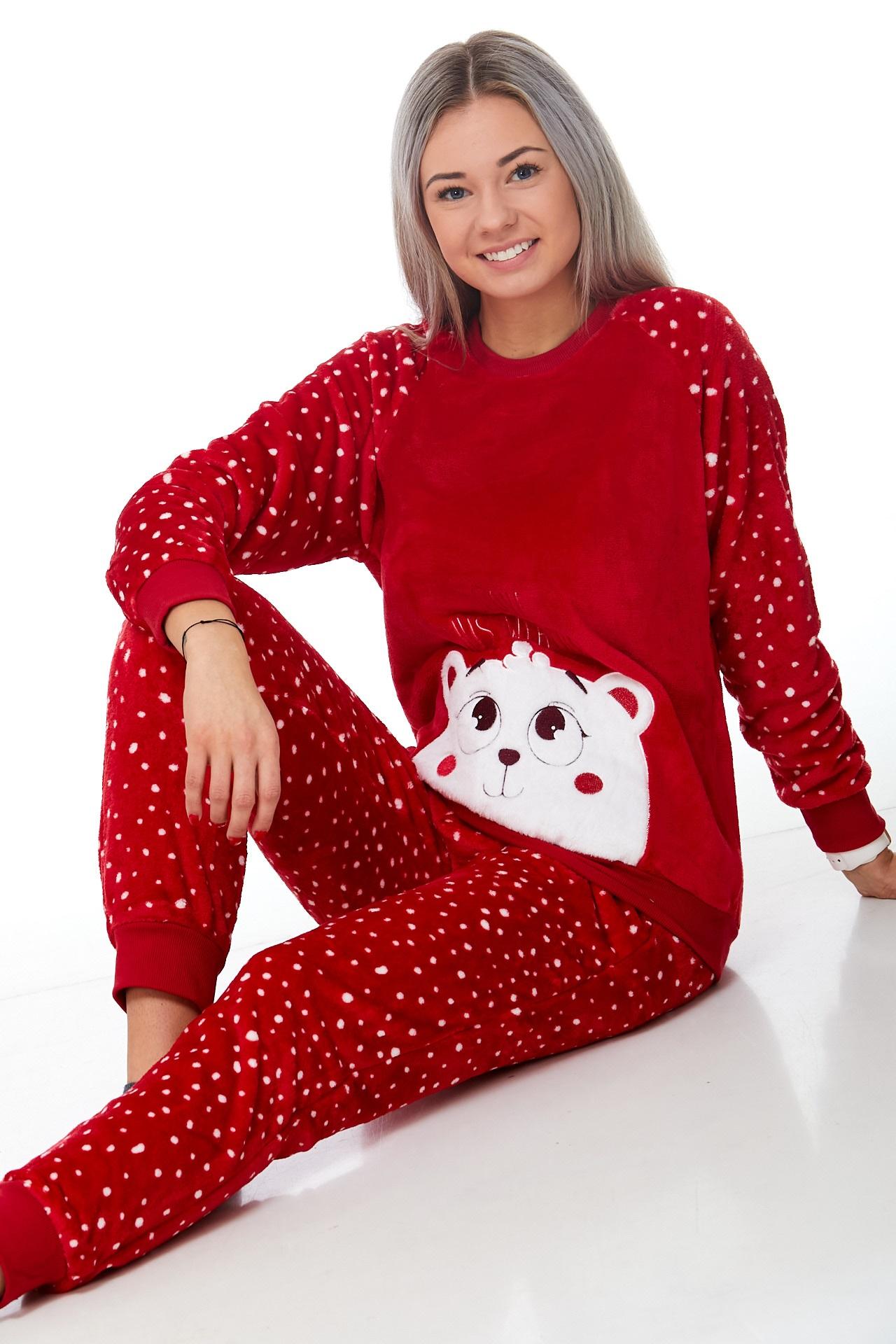 Pyžamo extra teplé pro ženy Méďa 1Z0960