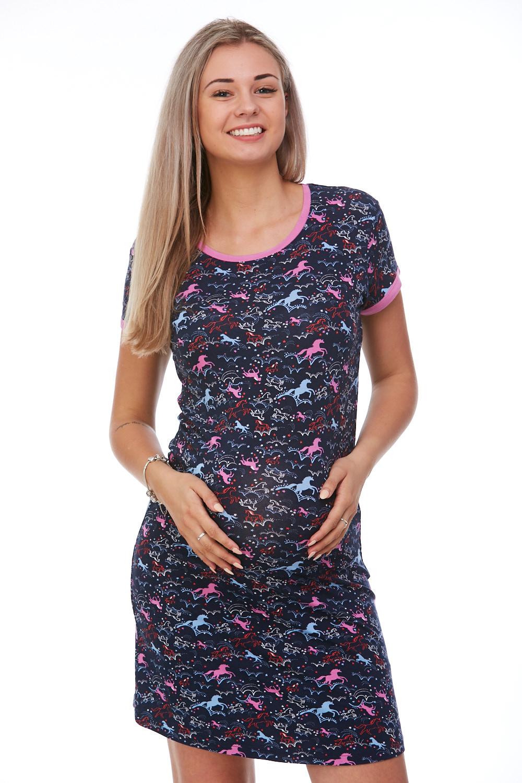 Těhotenská košilka noční Koňské sny 1D0839