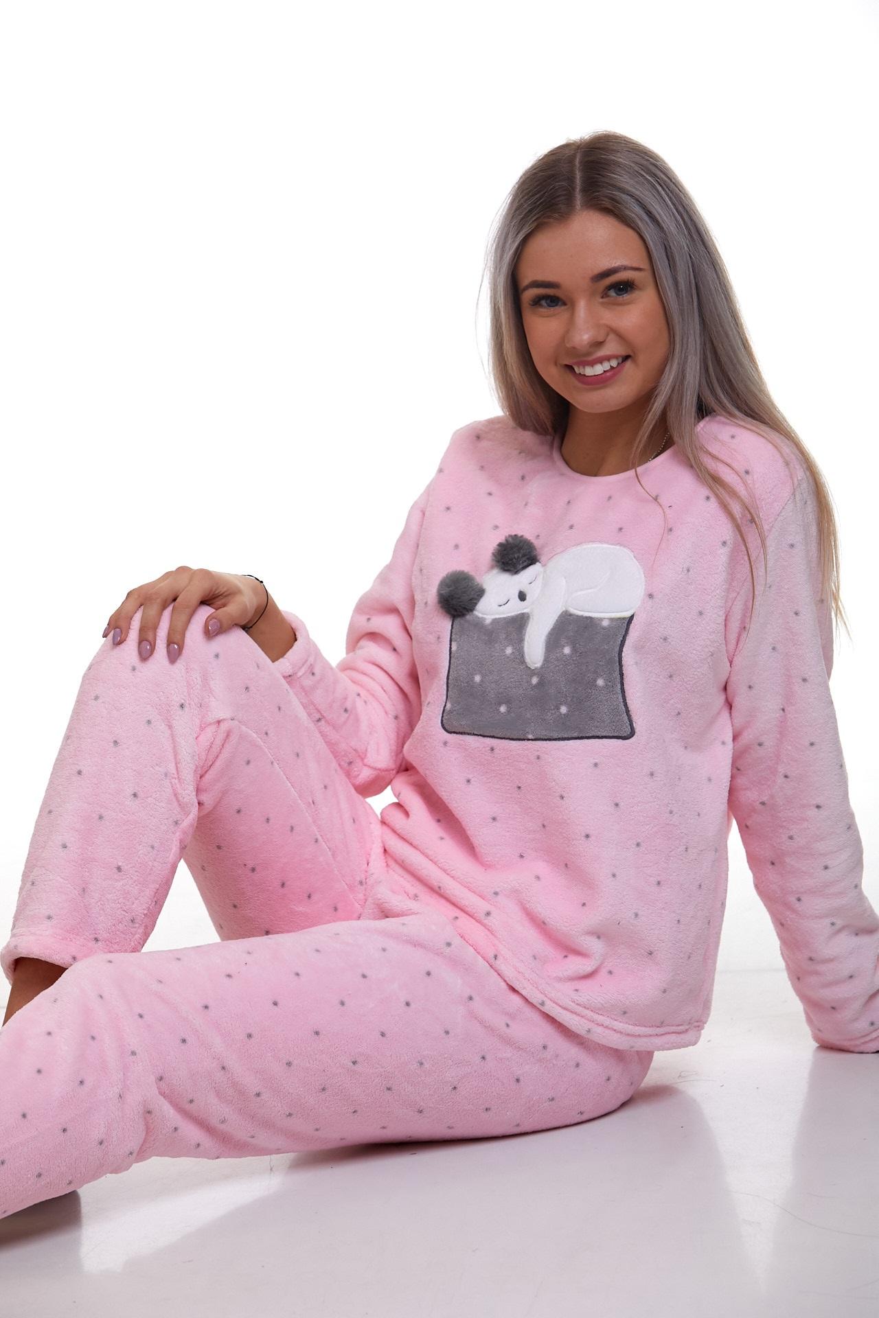 Pyžamo extra teplé pro ženy Kočička 1Z0967