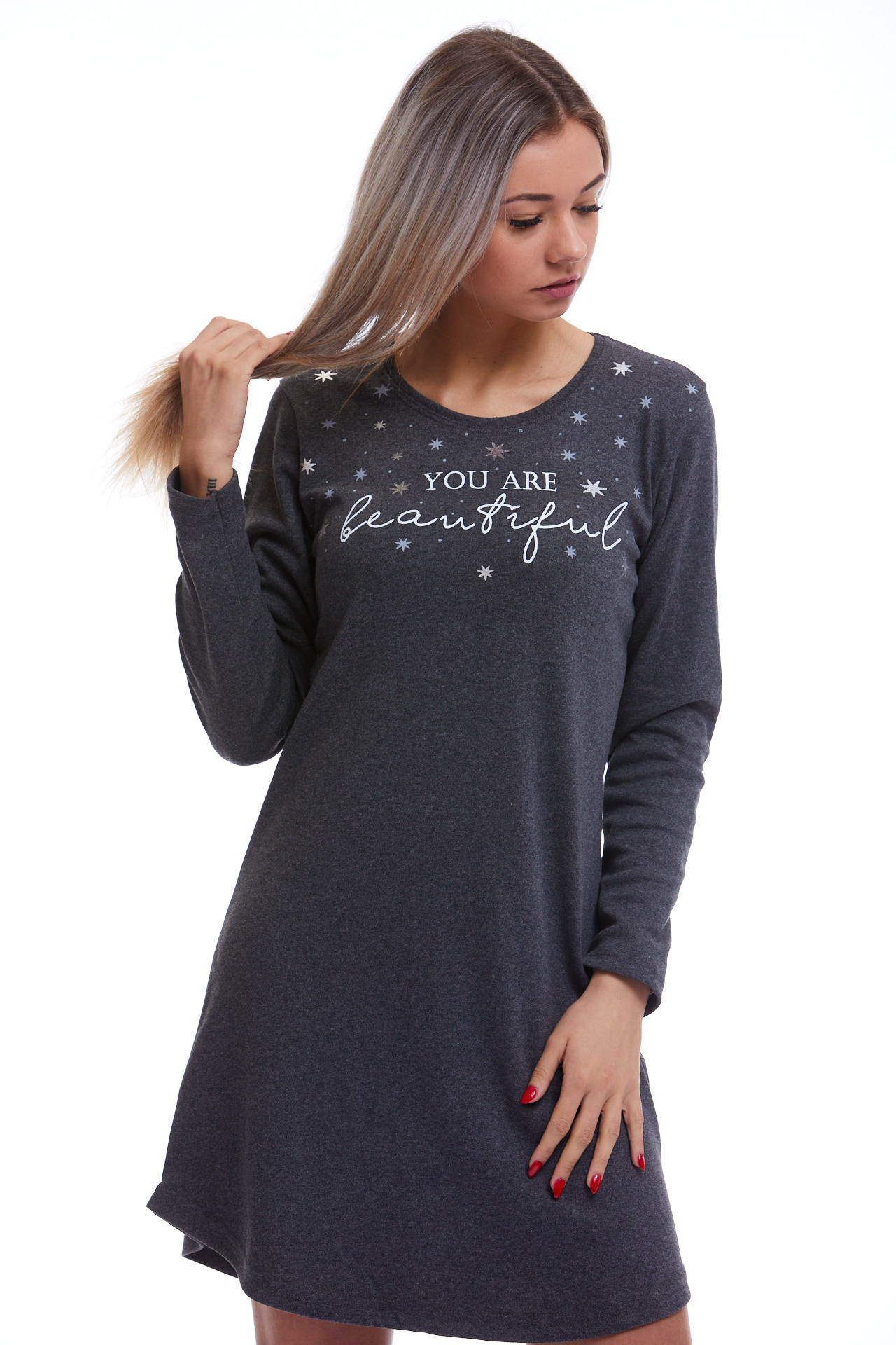 Košilka na spaní teplejší, pro ženy či dívky 1C2533
