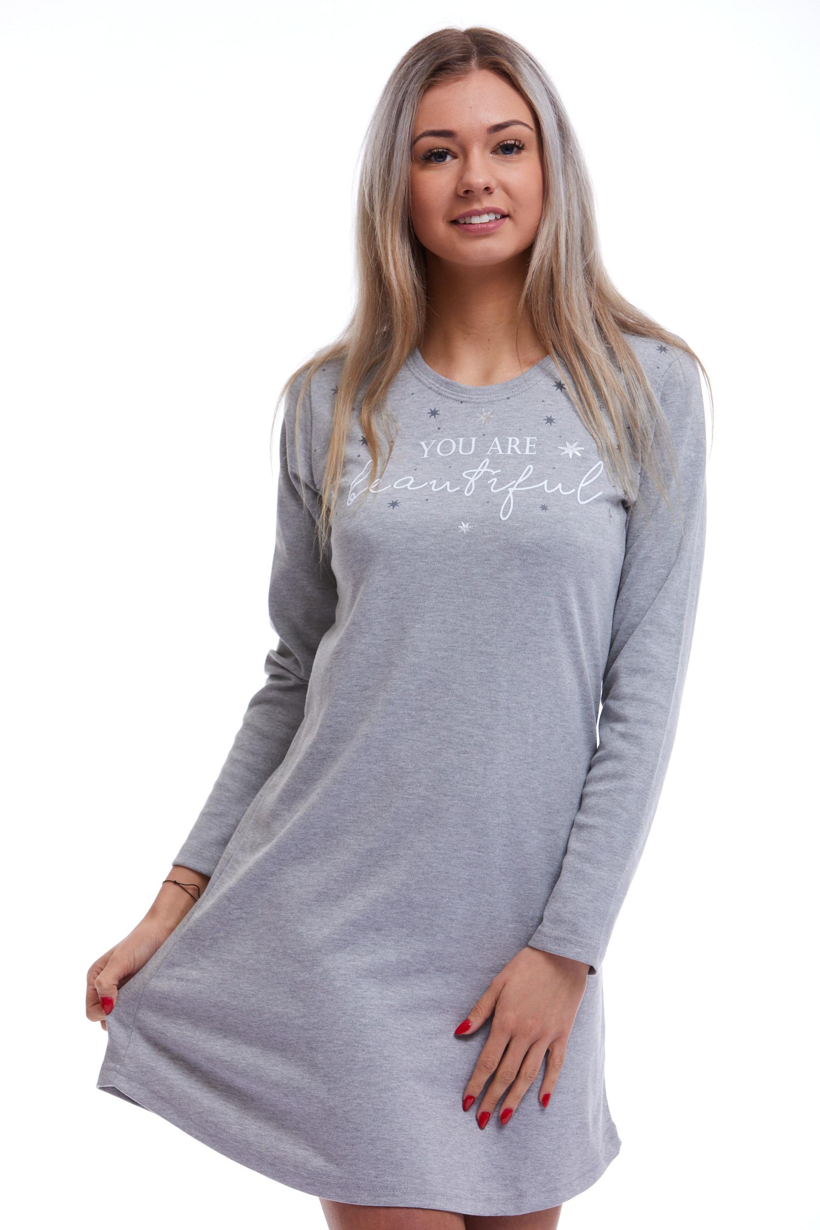 Košilka na spaní teplejší pro ženy či dívky 1C2532