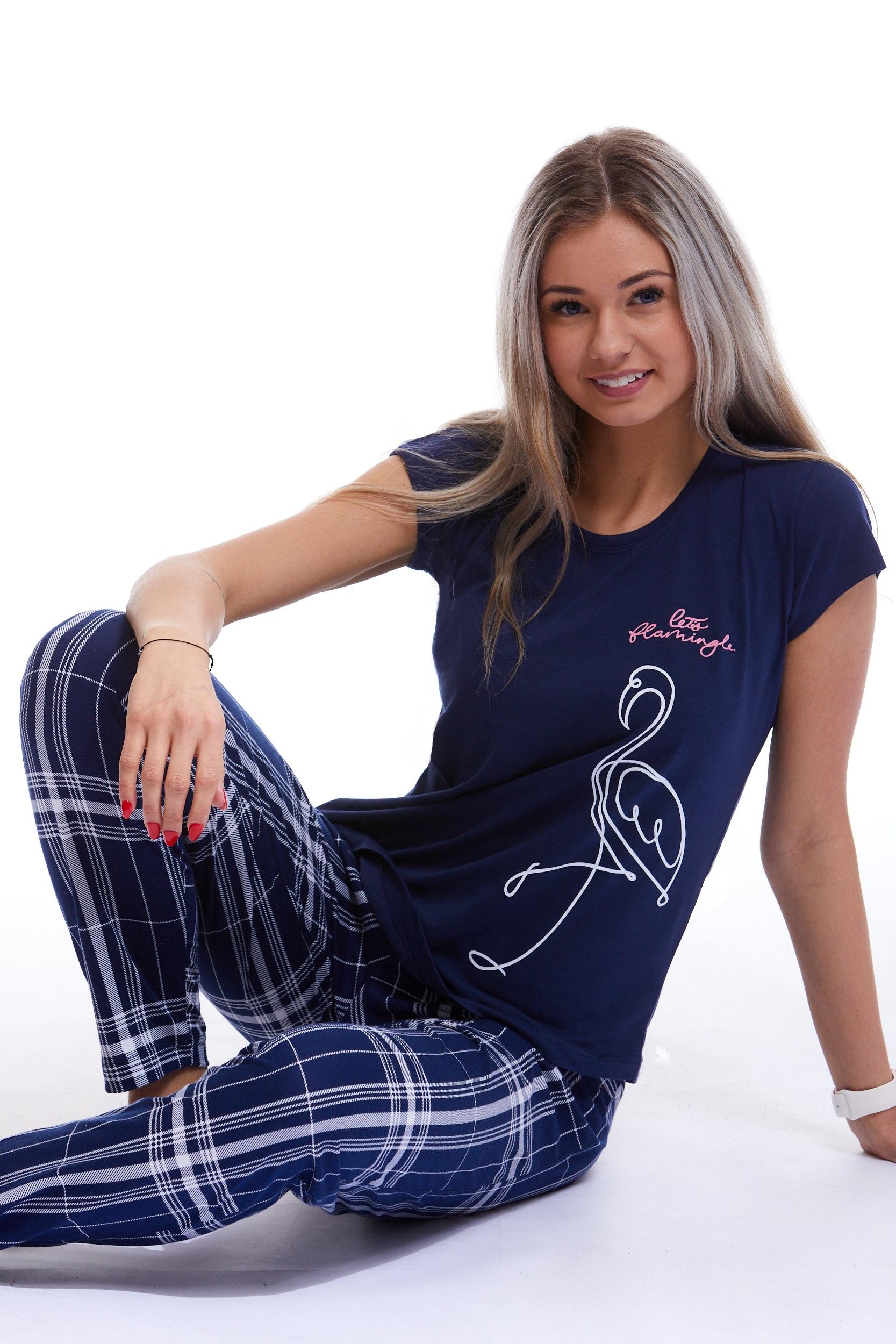 Pyžamo comfort pro ženy či dívky Plameňák 1B1231