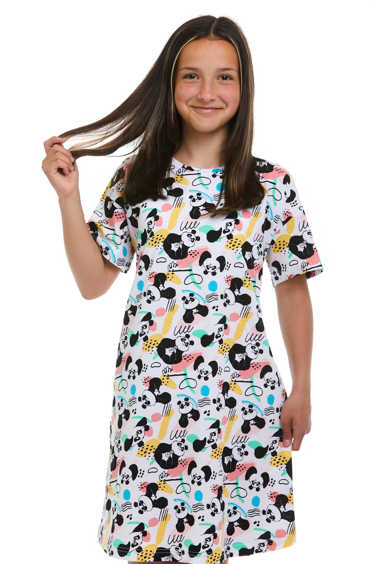 Dívčí košilka na spaní Panda