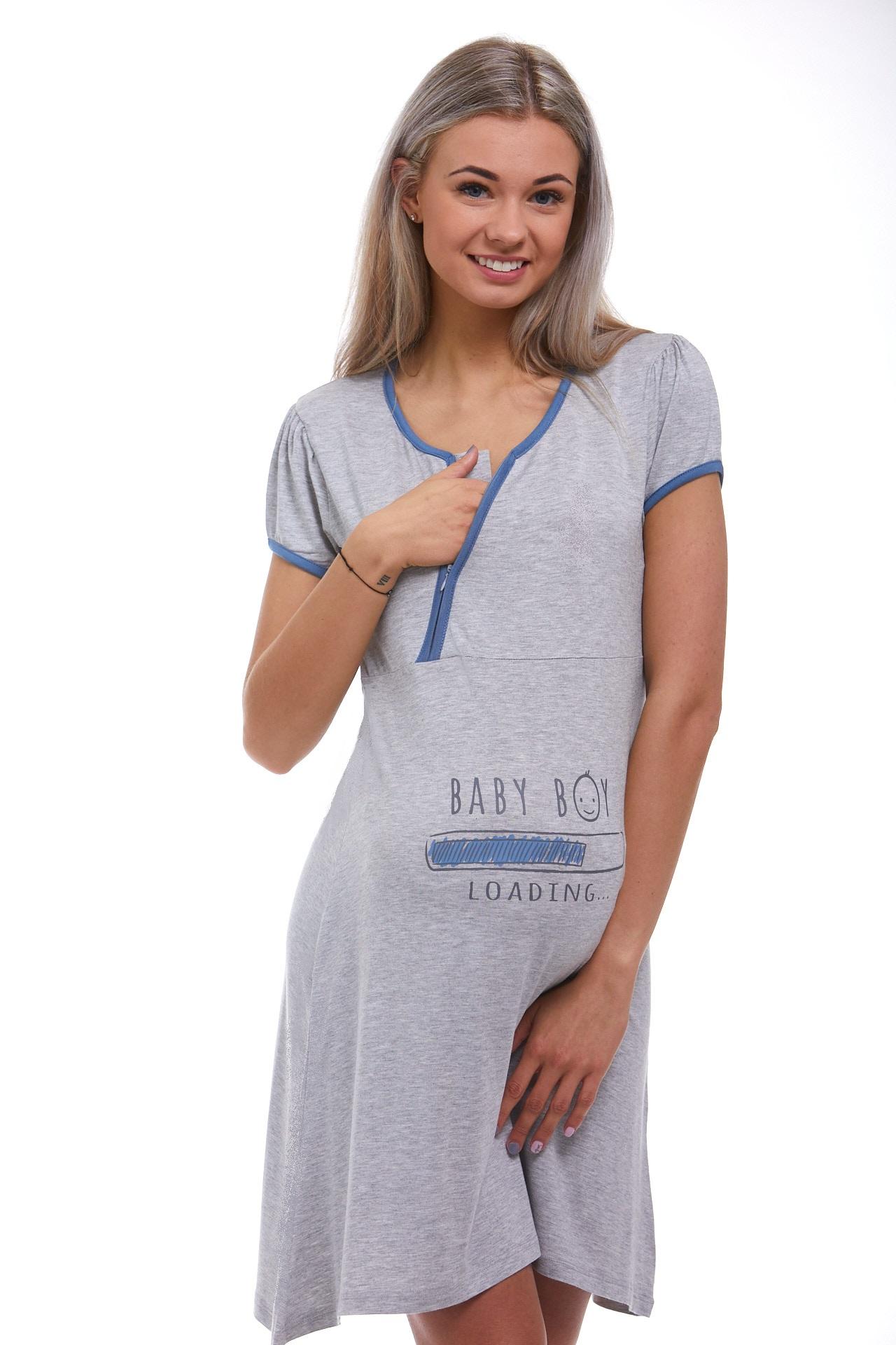 Těhotenská i kojící jemná košilka